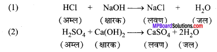 MP Board Class 10th Science Solutions Chapter 2 अम्ल, क्षारक एवं लवण 7
