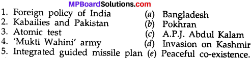 MP Board Class 10th Social Science Solutions Chapter 11 Important Events of the Post Independent India img 1