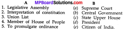 Mp Board Class 10th Social Science Chapter 13