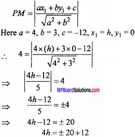 MP Board Class 11th Maths Important Questions Chapter 10 Straight Lines 16