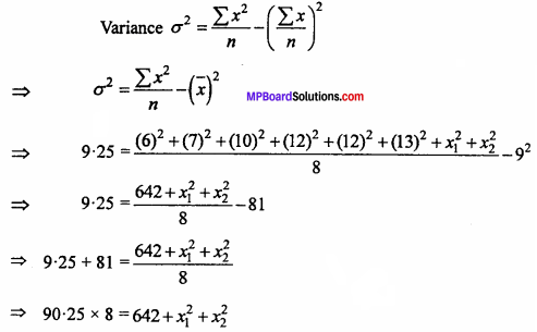 MP Board Class 11th Maths Important Questions Chapter 15 Statistics 35