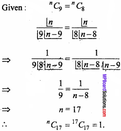 MP Board Class 11th Maths Important Questions Chapter 7 Permutations and Combinations 8