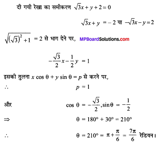 MP Board Class 11th Maths Solutions Chapter 10 सरल रेखाएँ विविध प्रश्नावली img-1