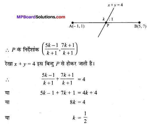 MP Board Class 11th Maths Solutions Chapter 10 सरल रेखाएँ विविध प्रश्नावली img-13