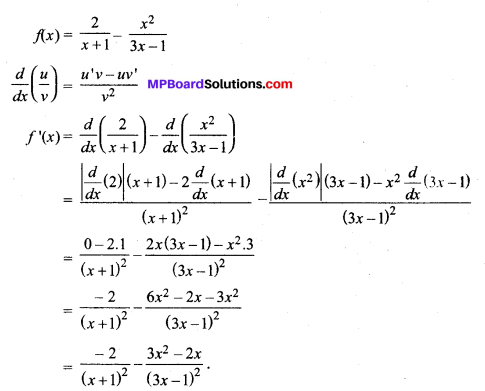 MP Board Class 11th Maths Solutions Chapter 13 सीमा और अवकलज Ex 13.2 img-13