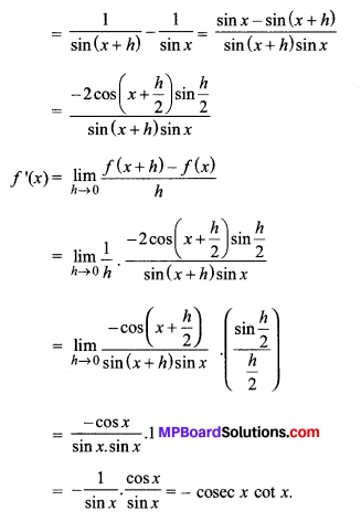MP Board Class 11th Maths Solutions Chapter 13 सीमा और अवकलज Ex 13.2 img-18