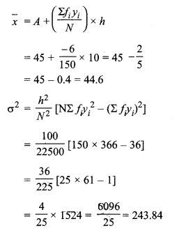 MP Board Class 11th Maths Solutions Chapter 15 सांख्यिकी Ex 15.3 img-4