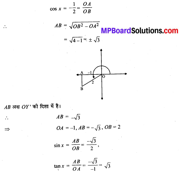 MP Board Class 11th Maths Solutions Chapter 3 त्रिकोणमितीय फलन Ex 3.2 img-1