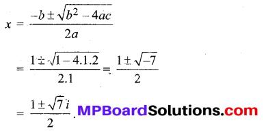 MP Board Class 11th Maths Solutions Chapter 5 सम्मिश्र संख्याएँ और द्विघातीय समीकरण Ex 5.3 img-4