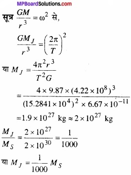 MP Board Class 11th Physics Solutions Chapter 8 गुरुत्वाकर्षण img 2