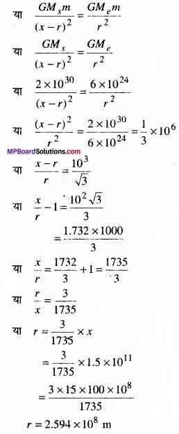 MP Board Class 11th Physics Solutions Chapter 8 गुरुत्वाकर्षण img 6