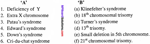 MP Board Class 12th Biology Important Questions Chapter 5 Principles of Inheritance and Variation 25
