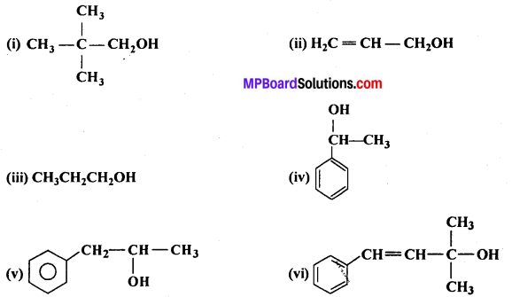 MP Board Class 12th Chemistry Solutions Chapter 11 ऐल्कोहॉल, फीनॉल तथा ईथर - 1