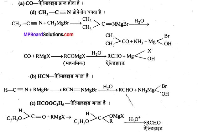 MP Board Class 12th Chemistry Solutions Chapter 12 ऐल्डिहाइड्स, कीटोन्स तथा कार्बोक्सिलिक अम्ल - 129