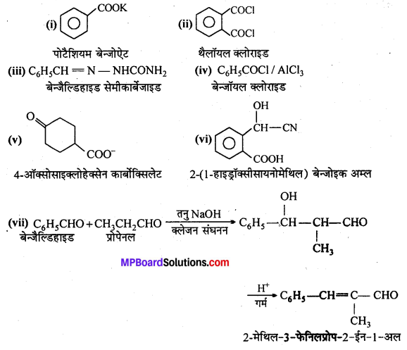 MP Board Class 12th Chemistry Solutions Chapter 12 ऐल्डिहाइड्स, कीटोन्स तथा कार्बोक्सिलिक अम्ल - 55