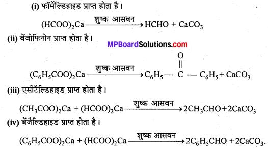 MP Board Class 12th Chemistry Solutions Chapter 12 ऐल्डिहाइड्स, कीटोन्स तथा कार्बोक्सिलिक अम्ल - 84