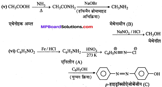 MP Board Class 12th Chemistry Solutions Chapter 13 ऐमीन - 39