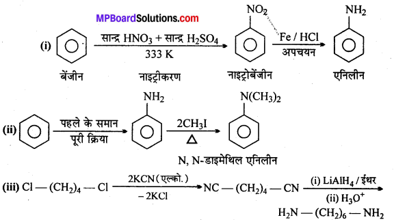 MP Board Class 12th Chemistry Solutions Chapter 13 ऐमीन - 5