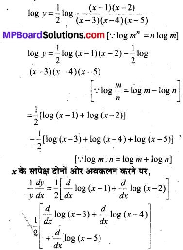 MP Board Class 12th Maths Book Solutions Chapter 5 सांतत्य तथा अवकलनीयता Ex 5.5 img 1
