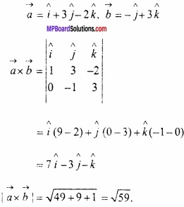 MP Board Class 12th Maths Important Questions Chapter 10 सदिश बीजगणित img 27