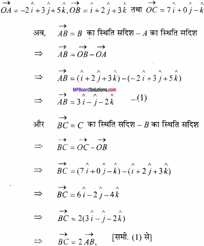 MP Board Class 12th Maths Important Questions Chapter 10 सदिश बीजगणित img 28