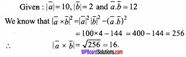 MP Board Class 12th Maths Important Questions Chapter 10 Vector Algebra img 15