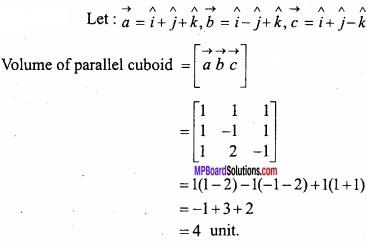 MP Board Class 12th Maths Important Questions Chapter 10 Vector Algebra img 42