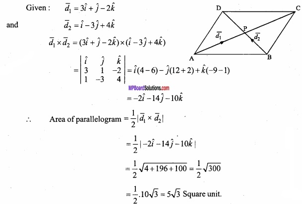 MP Board Class 12th Maths Important Questions Chapter 10 Vector Algebra img 55
