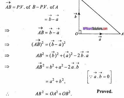 MP Board Class 12th Maths Important Questions Chapter 10 Vector Algebra img 56