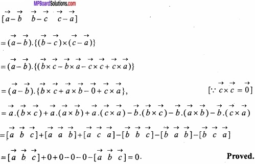 MP Board Class 12th Maths Important Questions Chapter 10 Vector Algebra img 66