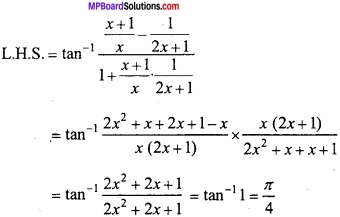 MP Board Class 12th Maths Important Questions Chapter 2 Inverse Trigonometric Functions img 15