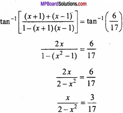 MP Board Class 12th Maths Important Questions Chapter 2 Inverse Trigonometric Functions img 20