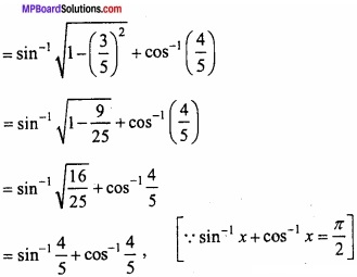 MP Board Class 12th Maths Important Questions Chapter 2 Inverse Trigonometric Functions img 21