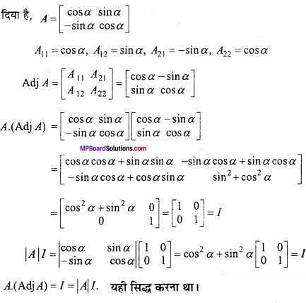 MP Board Class 12th Maths Important Questions Chapter 3 आव्यूह img 17