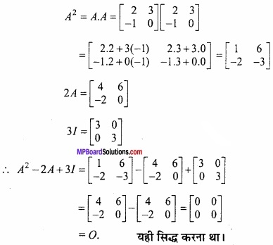 MP Board Class 12th Maths Important Questions Chapter 3 आव्यूह img 26
