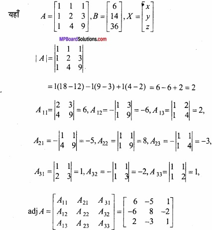 MP Board Class 12th Maths Important Questions Chapter 3 आव्यूह img 29