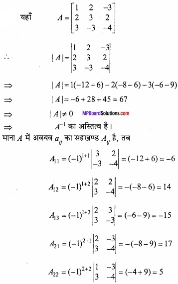 MP Board Class 12th Maths Important Questions Chapter 3 आव्यूह img 37
