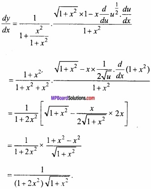 MP Board Class 12th Maths Important Questions Chapter 5B अवकलन img 11