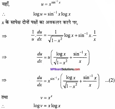 MP Board Class 12th Maths Important Questions Chapter 5B अवकलन img 50a