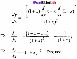 MP Board Class 12th Maths Important Questions Chapter 5B Differentiation img 17