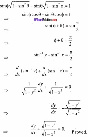 MP Board Class 12th Maths Important Questions Chapter 5B Differentiation img 19