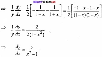 MP Board Class 12th Maths Important Questions Chapter 5B Differentiation img 7