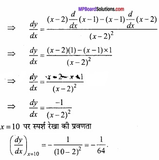 MP Board Class 12th Maths Important Questions Chapter 6 अवकलज के अनुप्रयोग img 17