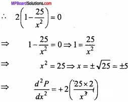 MP Board Class 12th Maths Important Questions Chapter 6 Application of Derivatives img 12