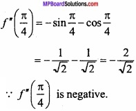 MP Board Class 12th Maths Important Questions Chapter 6 Application of Derivatives img 13