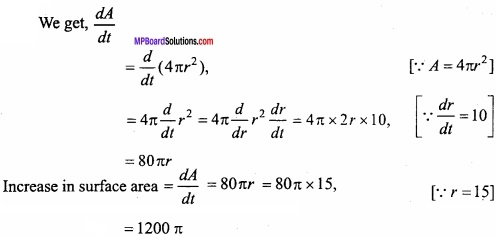 MP Board Class 12th Maths Important Questions Chapter 6 Application of Derivatives img 4