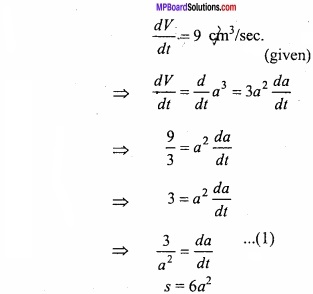 MP Board Class 12th Maths Important Questions Chapter 6 Application of Derivatives img 5