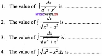 MP Board Class 12th Maths Important Questions Chapter 7A Integration img 1 - Copy