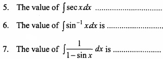 MP Board Class 12th Maths Important Questions Chapter 7A Integration img 1a - Copy