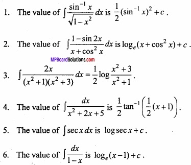 MP Board Class 12th Maths Important Questions Chapter 7A Integration img 2 - Copy